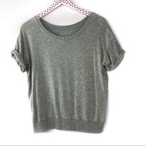 Beyond Yoga Rolled Cuff Short Sleeve Sweatshirt